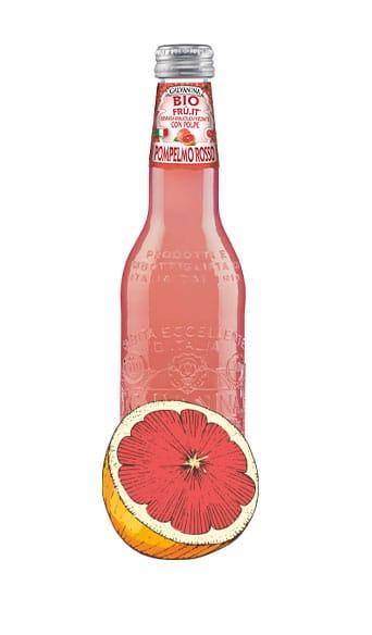 Rote Bio Grapefruit-Limo