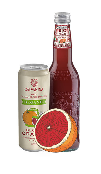 Rote Bio Orangen-Limo