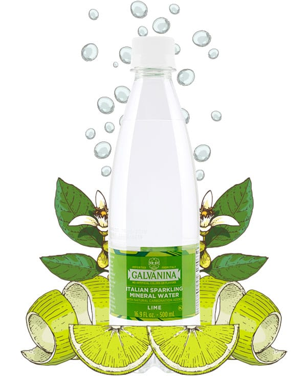 Mineral Water Lime Flavored